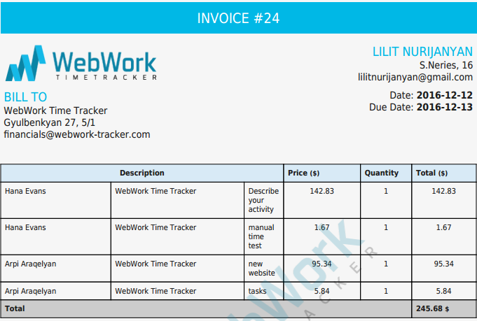 Generate Invoices