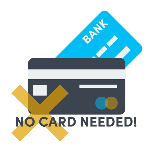 no credit card required for payment