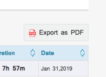 exports reports in PDF,XLS and CSV