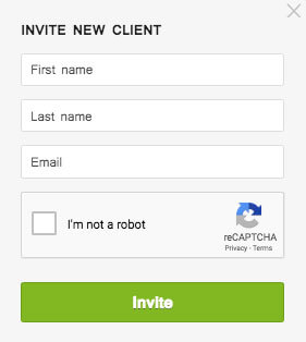 see how to invite a new client