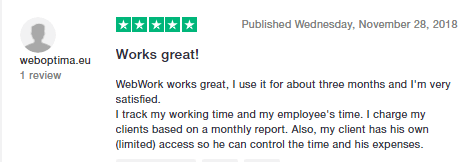 5 star review from Trustpilot