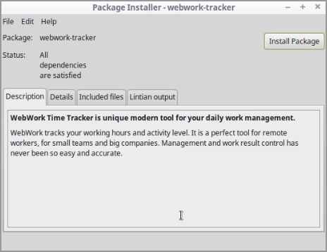 How to install WebWork Time Tracker on Linux
