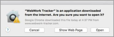 Completing WebWork Time Tracker Setup for Mac