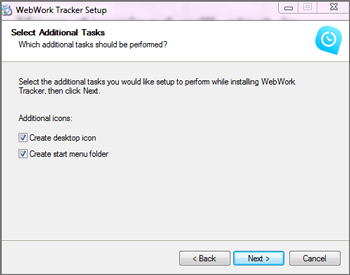Select additional tasks for Windows
