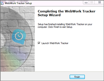 Completing WebWork Time Tracker Setup for Windows