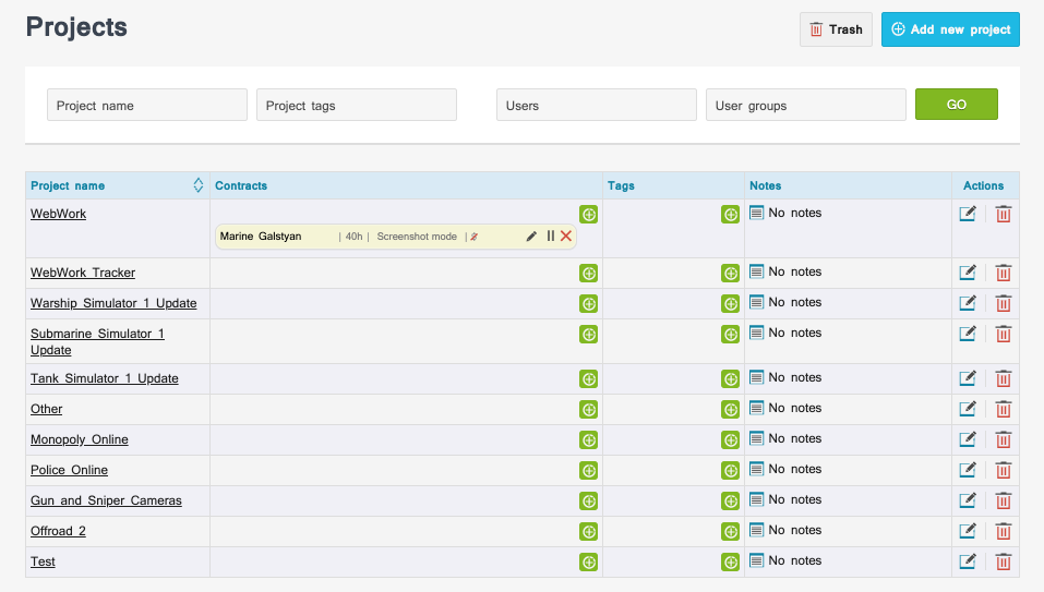 Track time on Asana projects