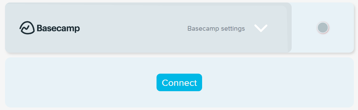 Connect to Basecamp integration