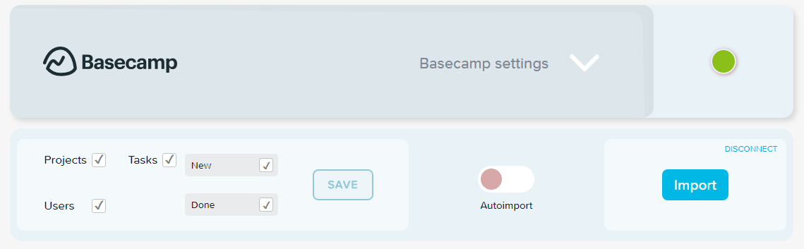 Track time on Basecamp projects, tasks