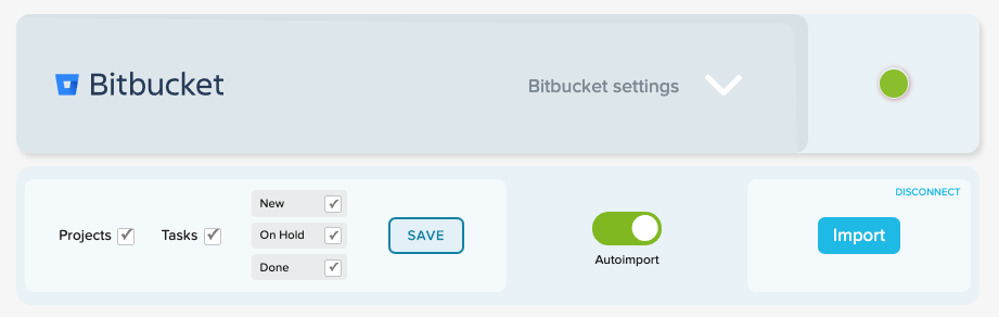 Track time on Bitbucket projects, tasks