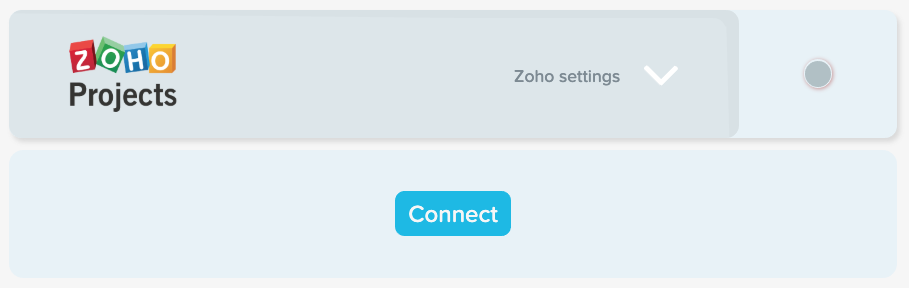 Connect to Zoho integration