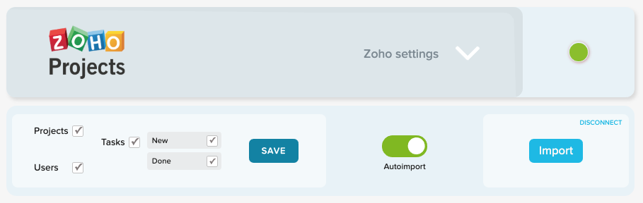 Track time on Zoho projects, tasks